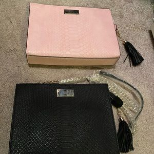 Pink Victoria's Secret zip clutch purse.